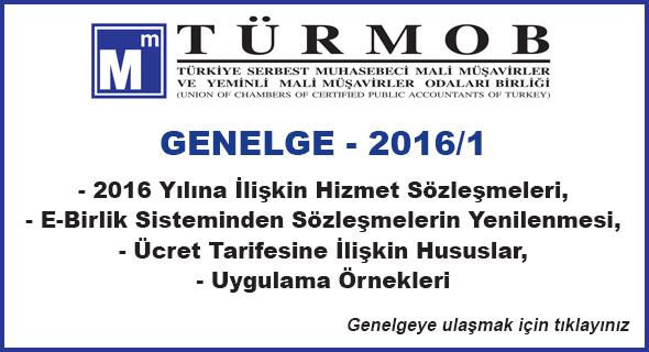 T�RMOB GENELGE - 2016/1