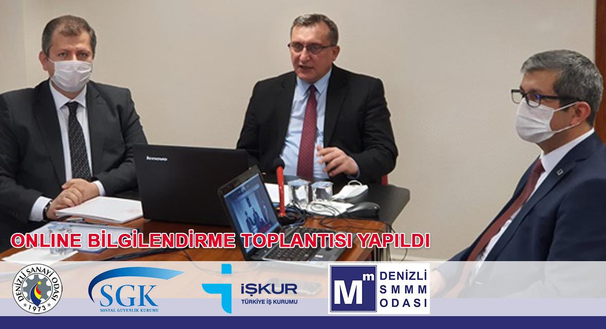 DSO & DSMMMO & SGK & İŞKUR ONLINE SEMİNERİ YAPILDI