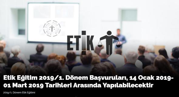 2019/1. Dönem Etik Eğitimi